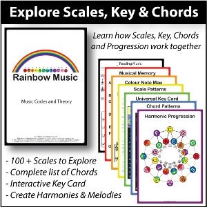 Rainbow Music - Explore Scale Key and Chords