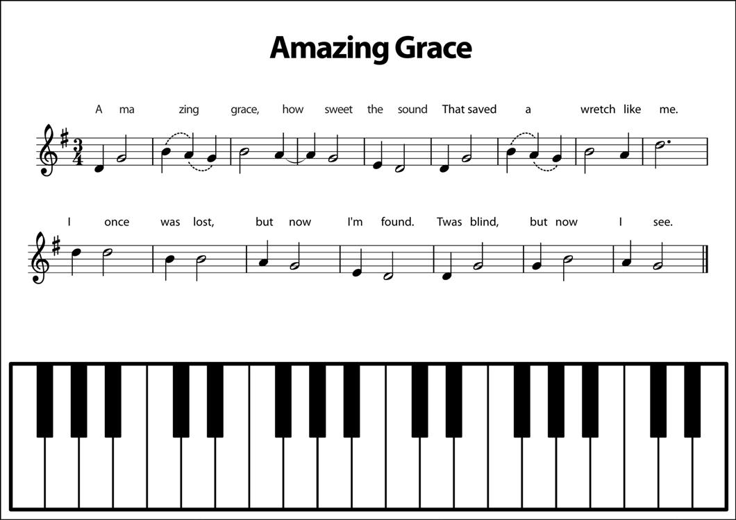 Rainbow Music - Play Simple Songs - Amazing Grace