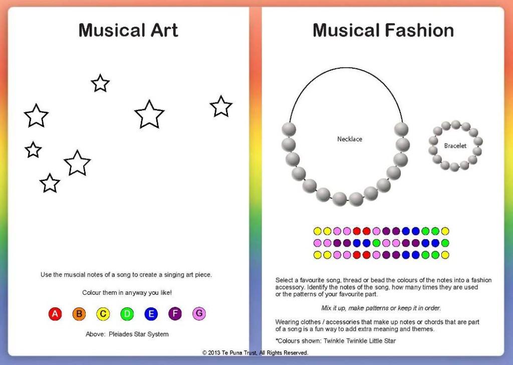 rainbow music art and fashion