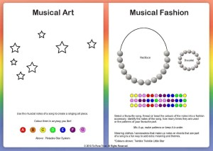 rainbow music art and fashion