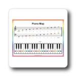 rainbow music practice piano keyboard