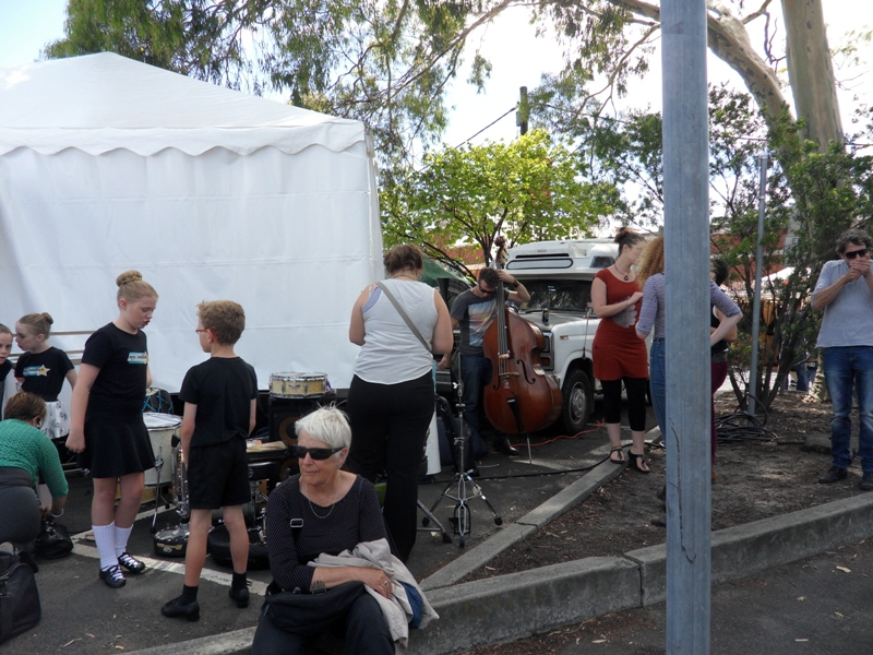 Yarravile Arts Festival - Band Getting Ready