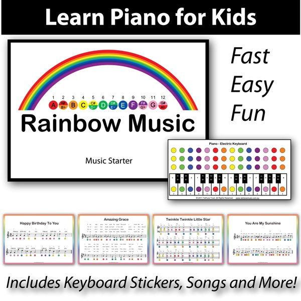 Piano for Kids - The Fast and Easy Way to Learn - Rainbow Music