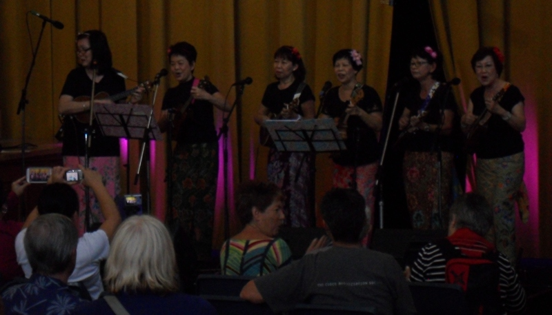 Melbourne Ukulele Festival - Rainbow Music - Ma Petite in the main hall