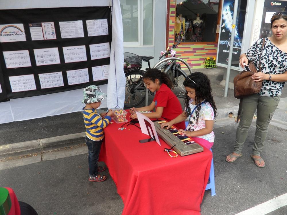 Rainbow Music - Seddon Festival - 2014 - Kid Playing Music and Doing Art 1