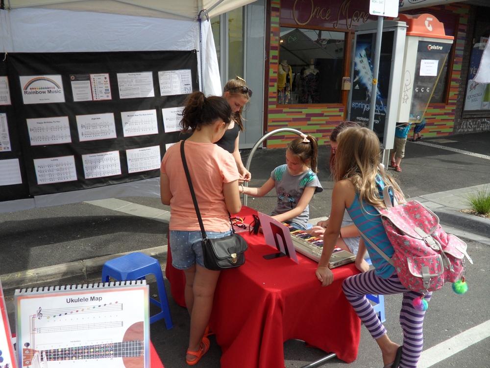 Rainbow Music - Seddon Festival - 2014 - Kid Playing Music and Doing Art 3