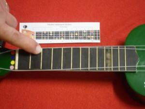 Ukulele Stickers - Press Firmly