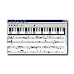 Midi Sheet Music Player