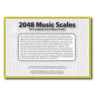 Rainbow Music - 2048 - Complete List of Music Scales