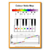 Rainbow Music - Music Spectrum - Color Note Map - Piano
