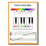 Rainbow Music – Music Spectrum – Color Note Map – Piano