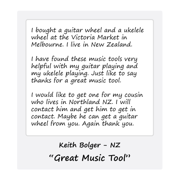 Ukulele Wheel - Keith - NZ