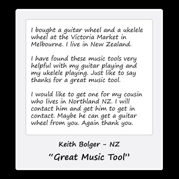Ukulele Wheel - Keith - NZ