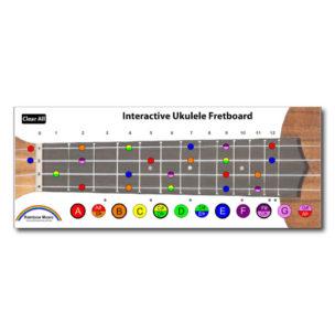 Rainbow Music - interactive fretboard - ukulele notes